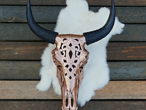 Bali FAUX Cow Skull - 6 head colors and 4 horn colors available