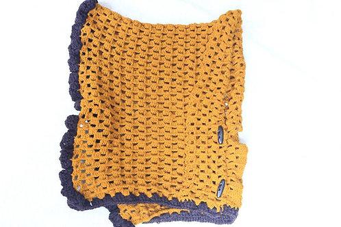 Crochet yellow scarf