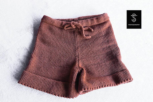Knitted girl shorts