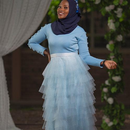 Light blue tulle dress