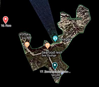 Cala Spinosa-politsuni Valle Map.png