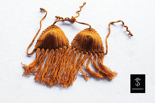 Crocheted bra