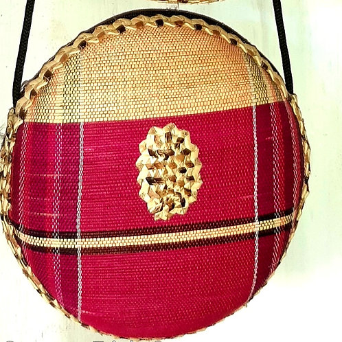 Kitenge button hand bag