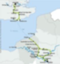 Avenue verte, Voyage, vélo, tandem, cyclotourisme, cyclocamping, carte