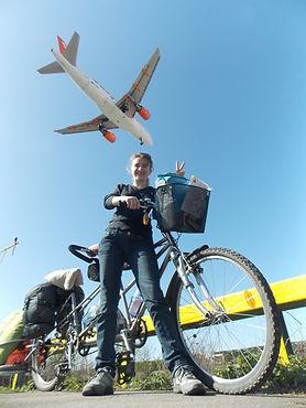 Avenue verte, Voyage, vélo, tandem, cyclotourisme, cyclocamping, aeroport, avion