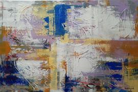 mer flamboyante, Acrylic on Canvas, 91x61 cm