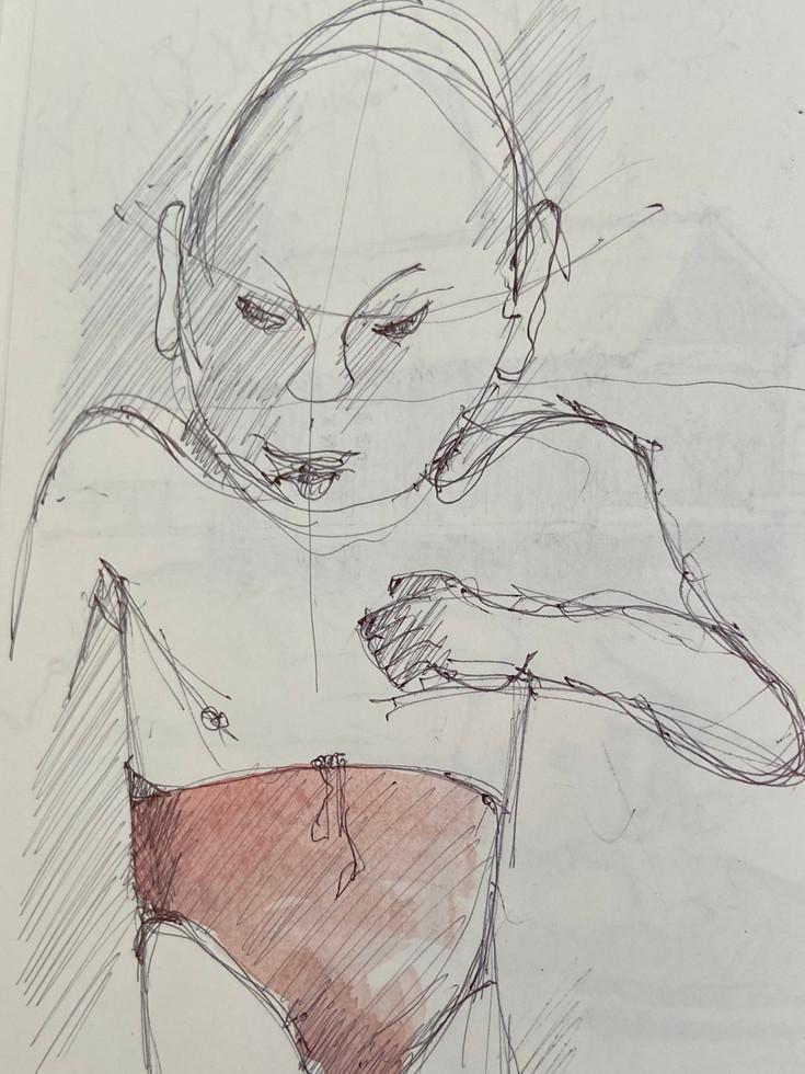 Junge in Badehose