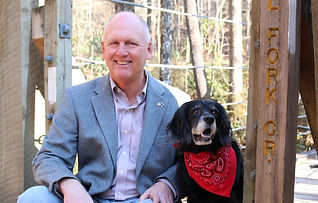 Senator Rice and dog Chloe