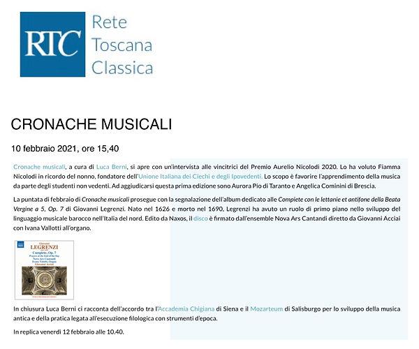 RTC, Cronache musicali, 10.2.2021.jpg