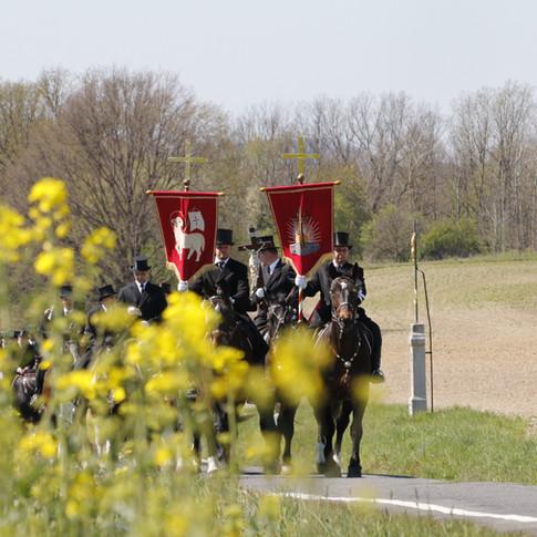 Prozession Panschwitz 2019 | Osterreiter reiten von Panschwitz nach Crostwitz |