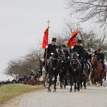 Prozession Ostro 2018 | Osterreiter reiten von Ostro nach Nebelschütz |