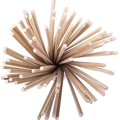 100 Zuckerwattestaebchen Holzstäbe für Zuckerwatte 4x4x400mm
