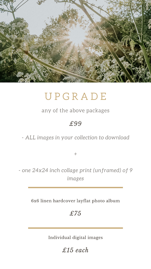 Sinead Patching Photography Price List J