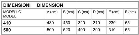 tabella dimensioni spostamento vipera.jp