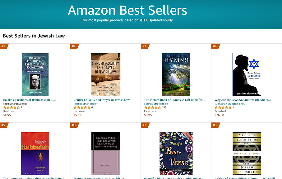 Best-seller in Jewish Law, 4 days after publication.jpg