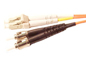 Single Mode (OS-1) Duplex SC/UPC to ST/UPC Fiber Optic Patch Cord