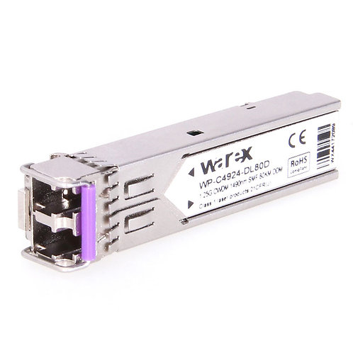 1.25Gb/s CWDM SFP 1270-1610nm, 10 - 40km reach