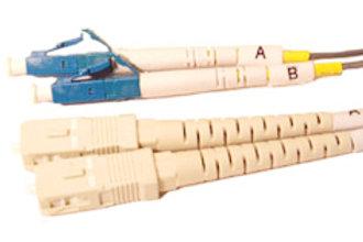 Multimode (OM1) Duplex SC to LC Fiber Optic Patch Cord
