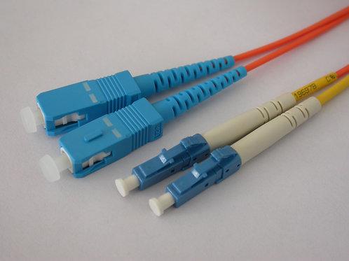 Multimode (OM-4) Duplex Laser Optimized SC to LC Fiber Optic Patch Cord