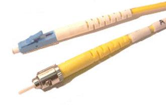 Single Mode (OS-1) Duplex LC/UPC to ST/UPC Fiber Optic Patch Cord