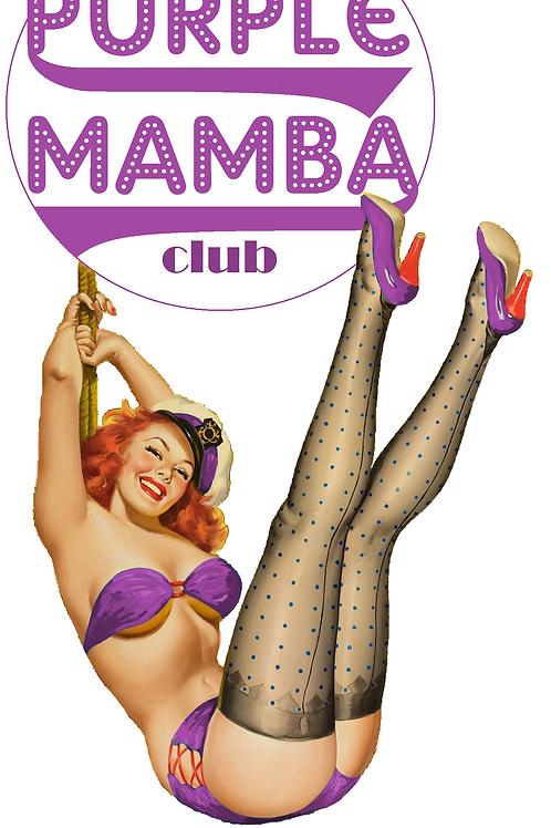 Purple Mamba Pin-up