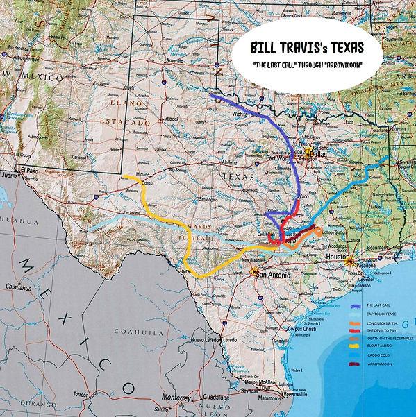 Bill Travis's Texas map