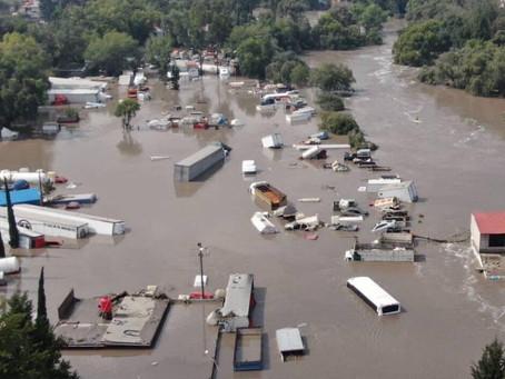 Escuelas en Tula de sin mobiliario por inundaciones