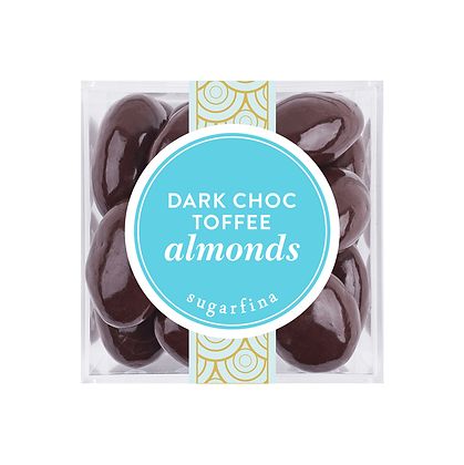 DARK CHOCOLATE TOFFEE ALMONDS SMALL CUBE