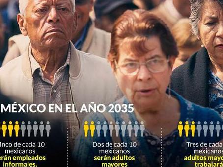 México envejece, las pensiones aumentan