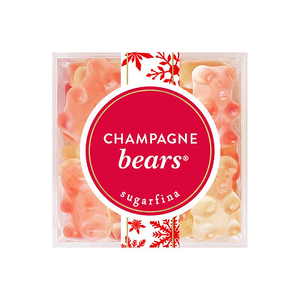 Champagne Bears - Large cube HOLIDAY