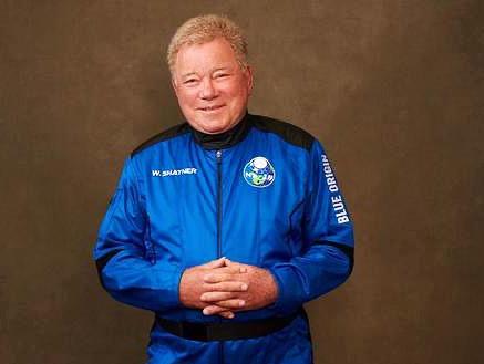 El capitán Kirk va al espacio, William Shatner el astronauta de 90 años