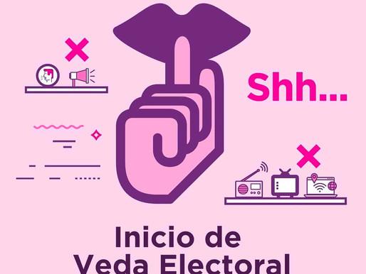 Inicia Veda electoral, es tiempo de reflexionar