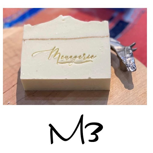 M3 - Cold Processed Soap 6.5 oz bar will last 3 months minimum