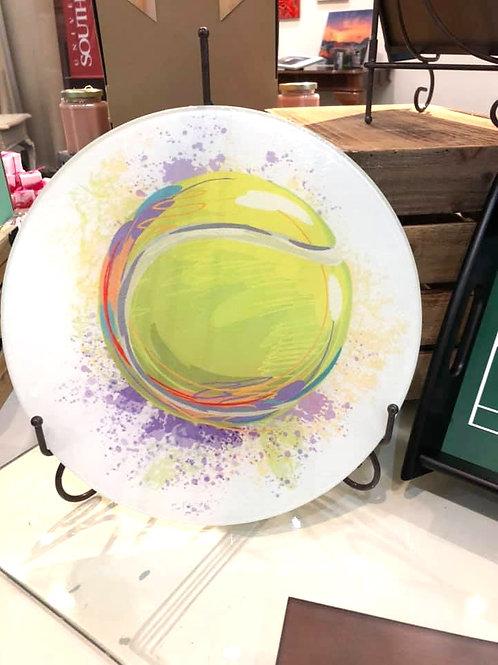 Glass Cutting Board Round Small - Custom GCB010
