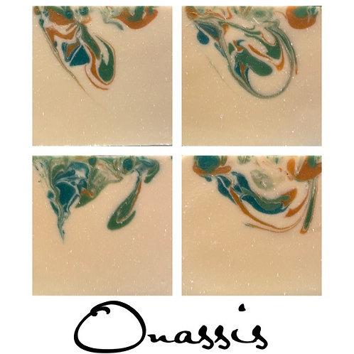 Onassis Cold Process Soap 6.5 oz bar will last 3 months minimum