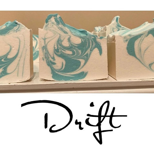 Drift - Cold Processed Soap 6.5 oz bar will last 3 months minimum