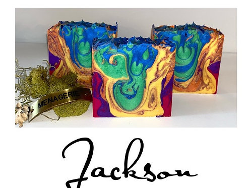 Jackson - cold Processed Soap 6.5 oz bar will last 3 months minimum
