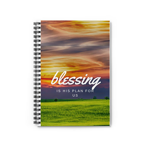 BLESSING....Spiral Notebook - Ruled Line