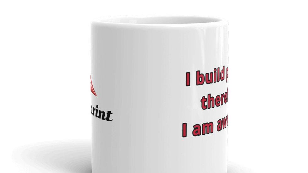 """I build planes"" coffee mug"