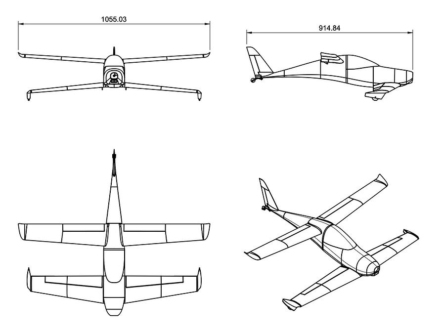 Quickie Schematic 3D Printed plane