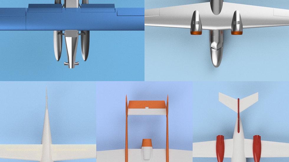 rc3Dprint 5 Plane Bundle