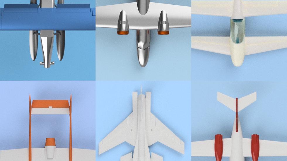 rc3Dprint 6 Plane Bundle