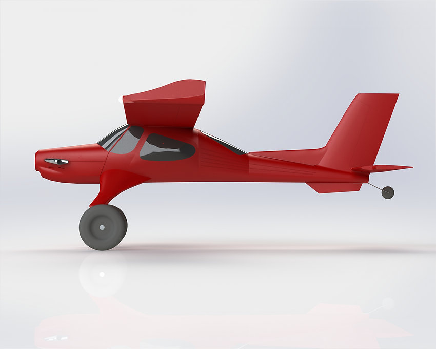 3d printed Draco dragon bushplane side