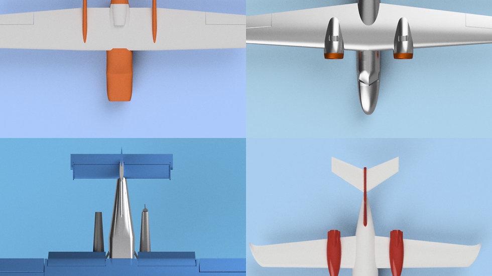 rc3Dprint 4 Plane Bundle