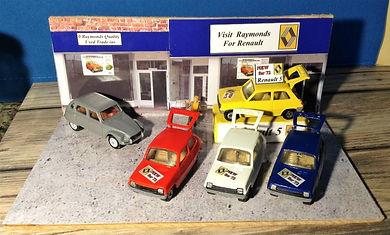Vintage toy car, renault garage