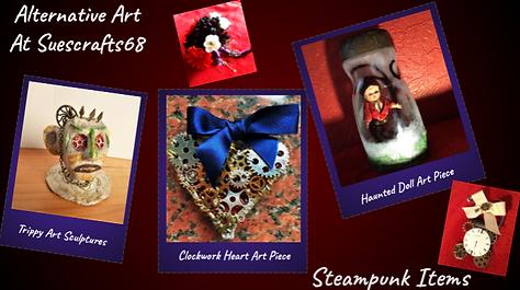 Art, Steampunk, horror, sculpture