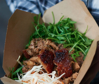Roast Hog Lunch box with crackling