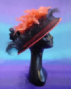 'Daisy' - Dusky pink fine straw hat, tri
