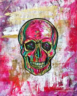 Pop pink skull