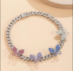 Choker Butterfly Chain 2 colors
